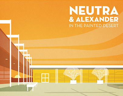 Neutra and Alexander in the Painted Desert