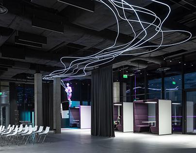 Interior photoshoot of PM Hub creative space, Ukraine