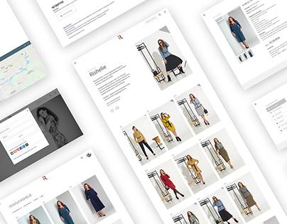 Разработка сайта швейной фирмы