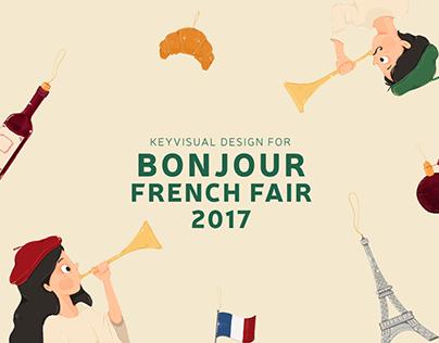 Key visual design for Bonjour french fair 2017
