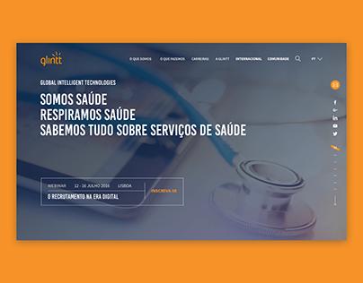 GLINTT public tender - website webdesign