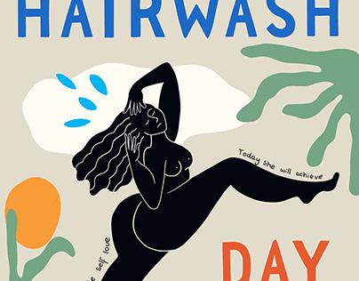 Hairwash Day event poster