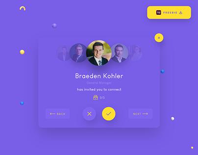 Pending Invitation UI design - (Freebie)