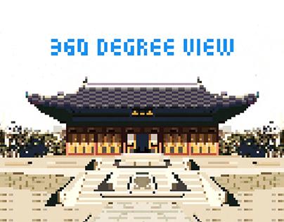 Pixel-art (360-Degree Camera view)