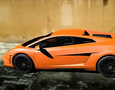 CGI:3D Lamborghini car