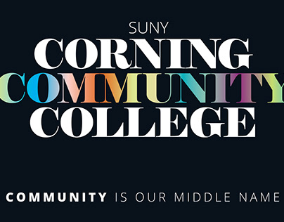 Postcard Series for Corning Community College