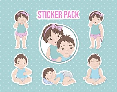 Sticker pack illustrations
