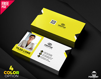 Business Card Template Free PSD Bundle