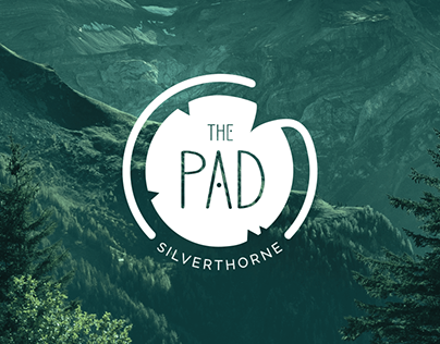 The Pad Hostel - logo and branding