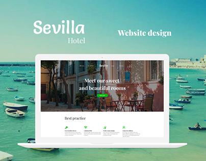 Sevilla - template for hotel website. UI/UX Wordpress