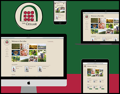 The Cellar branding and responsive website
