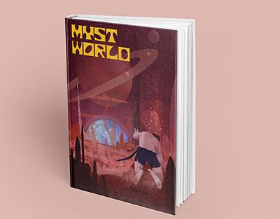 Retro Sci-Fi illustration for book cover