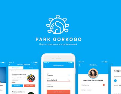 Park Gorkogo App Design