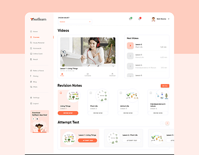 Online Classes Website Design