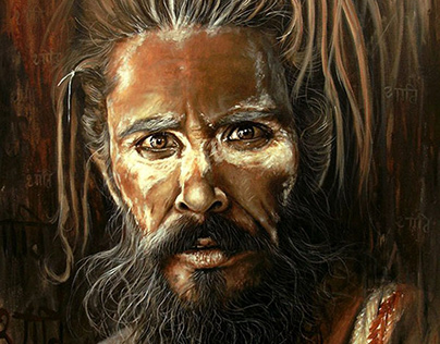 SaintAcrylic Painting