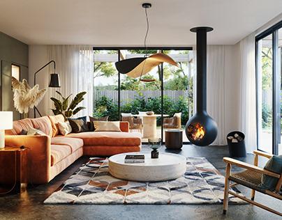 Fireplace Interior 2 - CGI