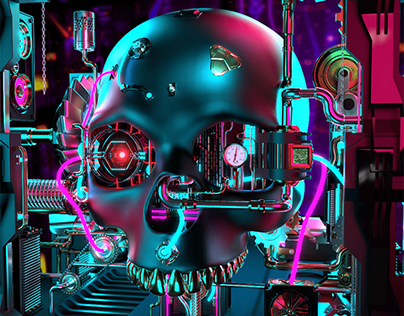 Mechanical Skull | GOLD NFT Collection