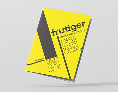 Frutiger Font Family - Leaflet Design