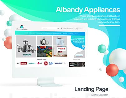 Web UI design (Albanyappliances)