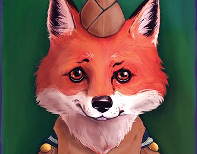 Fox and Rabbit Nursery Decor