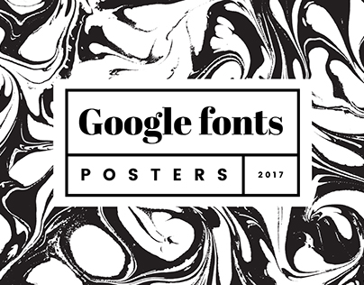 Google fonts - typography posters
