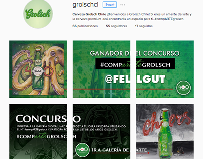 Time Line Instagram / Grolsch