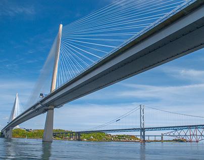 Three bridges over the Forth