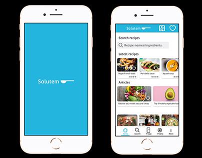 UX design - Recipes app