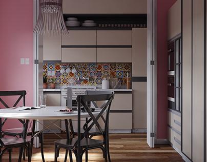 Cozinha Rosa