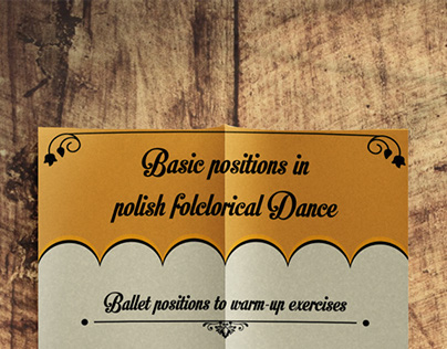 Infographic - basic positions for folclorical dance
