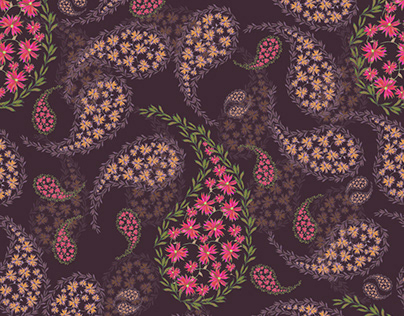 Paisleys Surface Pattern