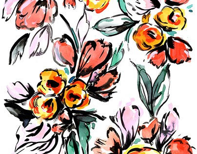 Bold Painted Floral Prints