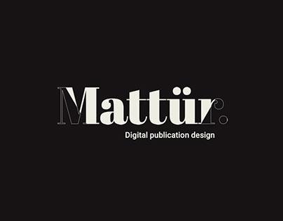 Mattür Digital Publication