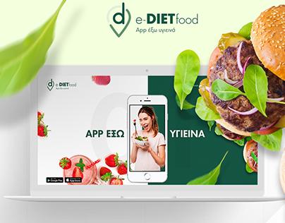 Corporate website for app e-diet food