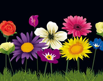 Free Vectors: Flowers
