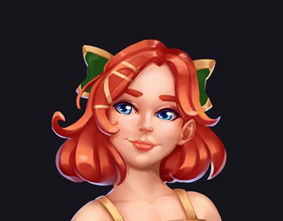 Redhead - character design