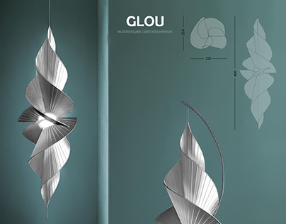 """collection of lamps """"glou"""""""