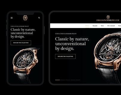 Frodo's Timepieces – UX/UI & Website Development