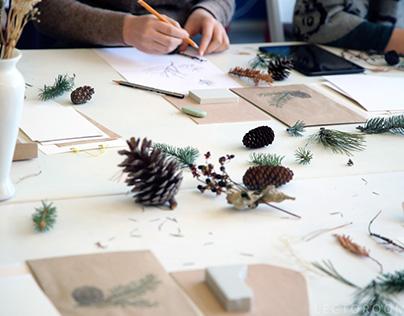 Workshop on linocut