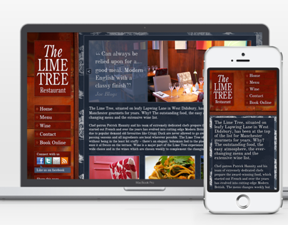 The Lime Tree Restaurant Desktop and Mobile Websites