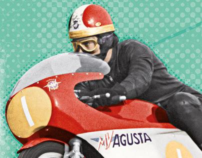 Poster 100x140cm Grand Prix Riviera di Rimini