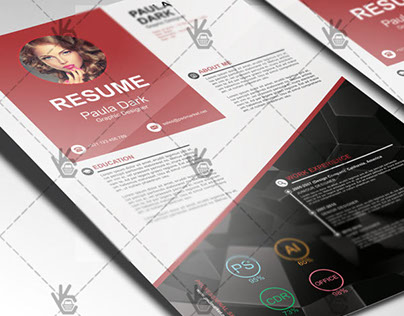 Clean Resume – Free PSD Template