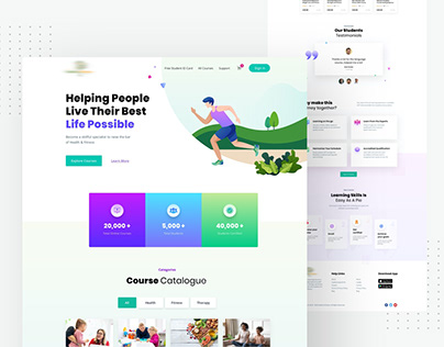 Health Fitness Website Design Home Page