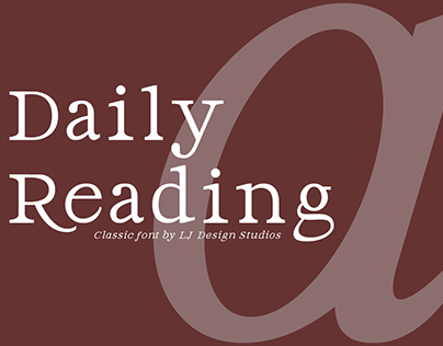 Daily Reading font