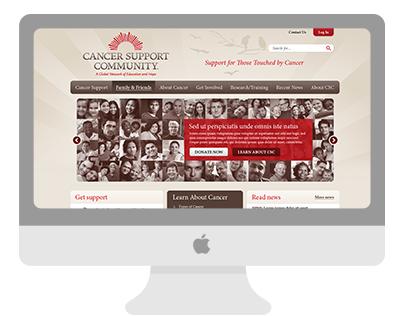 Cancer Support Community web design