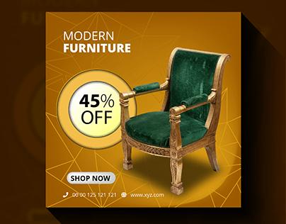 Social Media Ad Design for Furniture Company