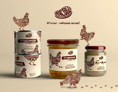 Myasoshi | Branding & Packaging (canned meat)