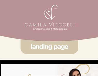 Dra. Camila Viecceli - Landing Page