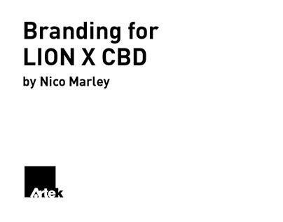 Branding for LION X CBD by Nico Marley
