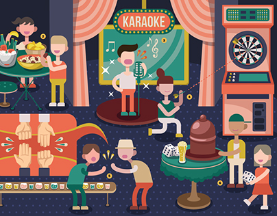 """""""Know Your Local Bar"""" - illustration for Time Out HK"""
